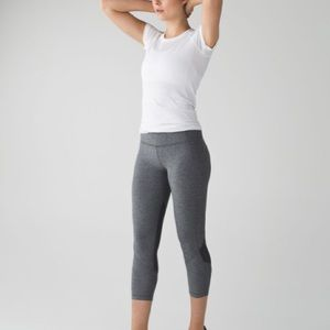 Lululemon Pace Rival Crop Heathered Black